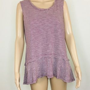 Style & Company Babydoll Striped Top